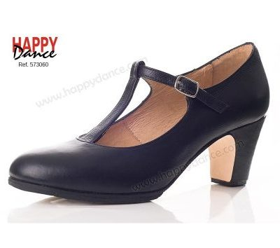 Zapato de flamenco profesional con tira Happy Dance